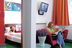 Zimmer in der Pension Stadthalle